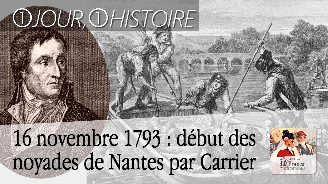 16 novembre 1793 : début des noyades de Nantes par Carrier ...