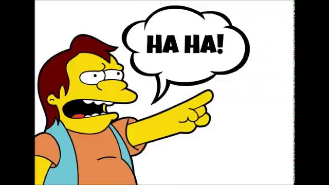 Simpsons Nelson HAHA HAHA - YouTube