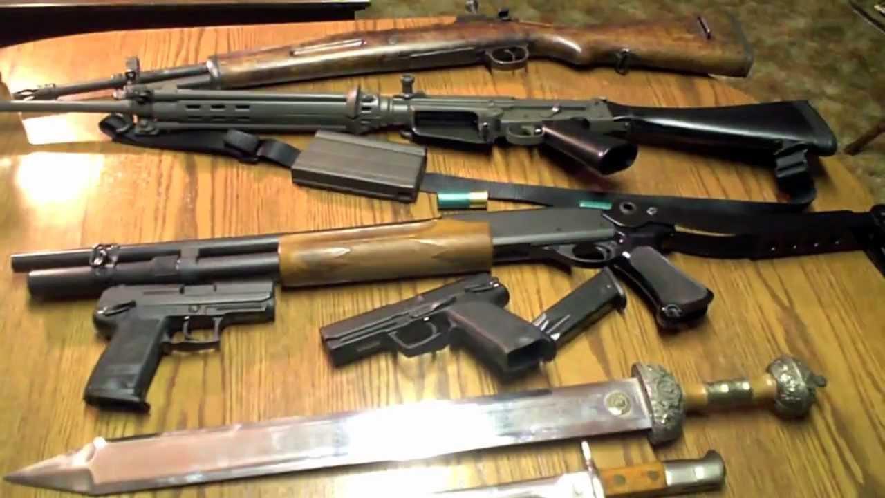 Quando que um kit desses iria ser prático? Tantas armas pra quê?