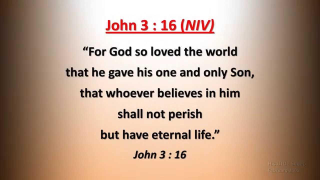 John 3 : 16 - For God so loved the world - w accompaniment ...
