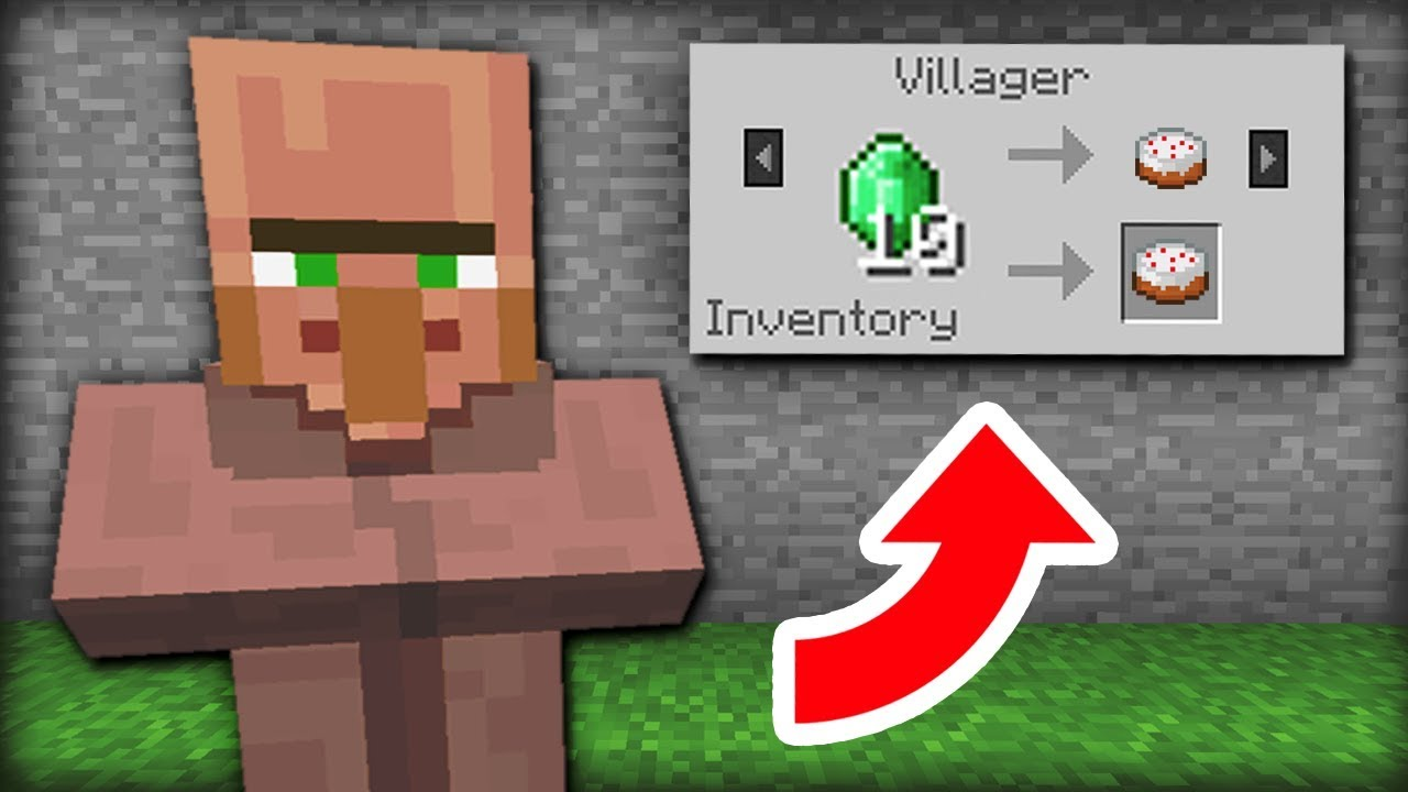 Example of villager trading