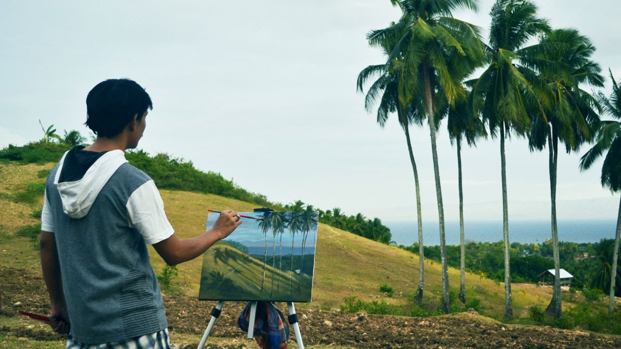 Outdoor Painting in Guihulngan City by JMLisondra - YouTube
