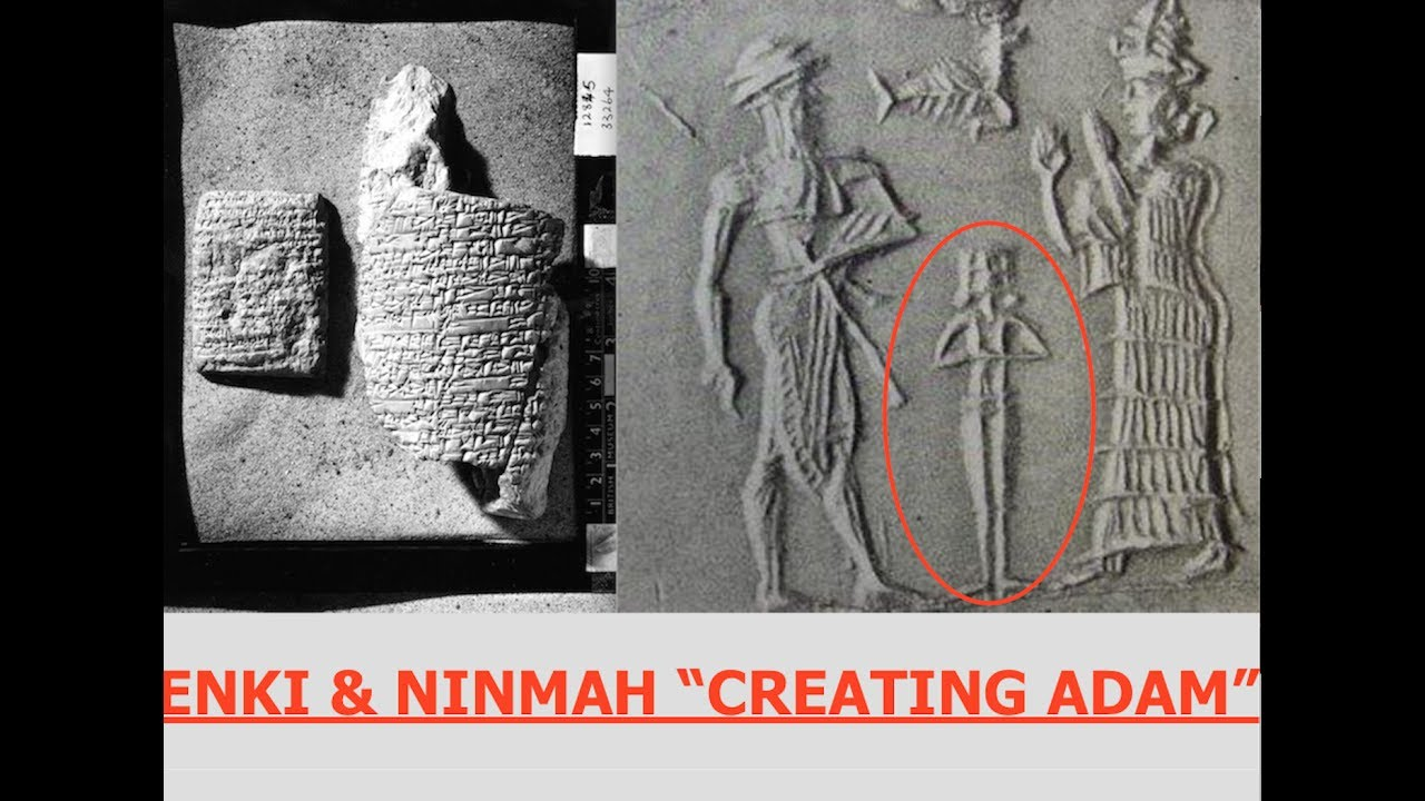 "Ancient Sumerian Tablet, Enki & Ninmah Create ""Adam"" 6,000 Year Old Text - YouTube"