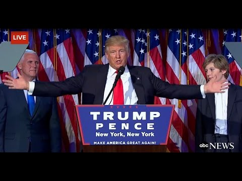 Donald Trump Wins US Presidential Election - YouTube