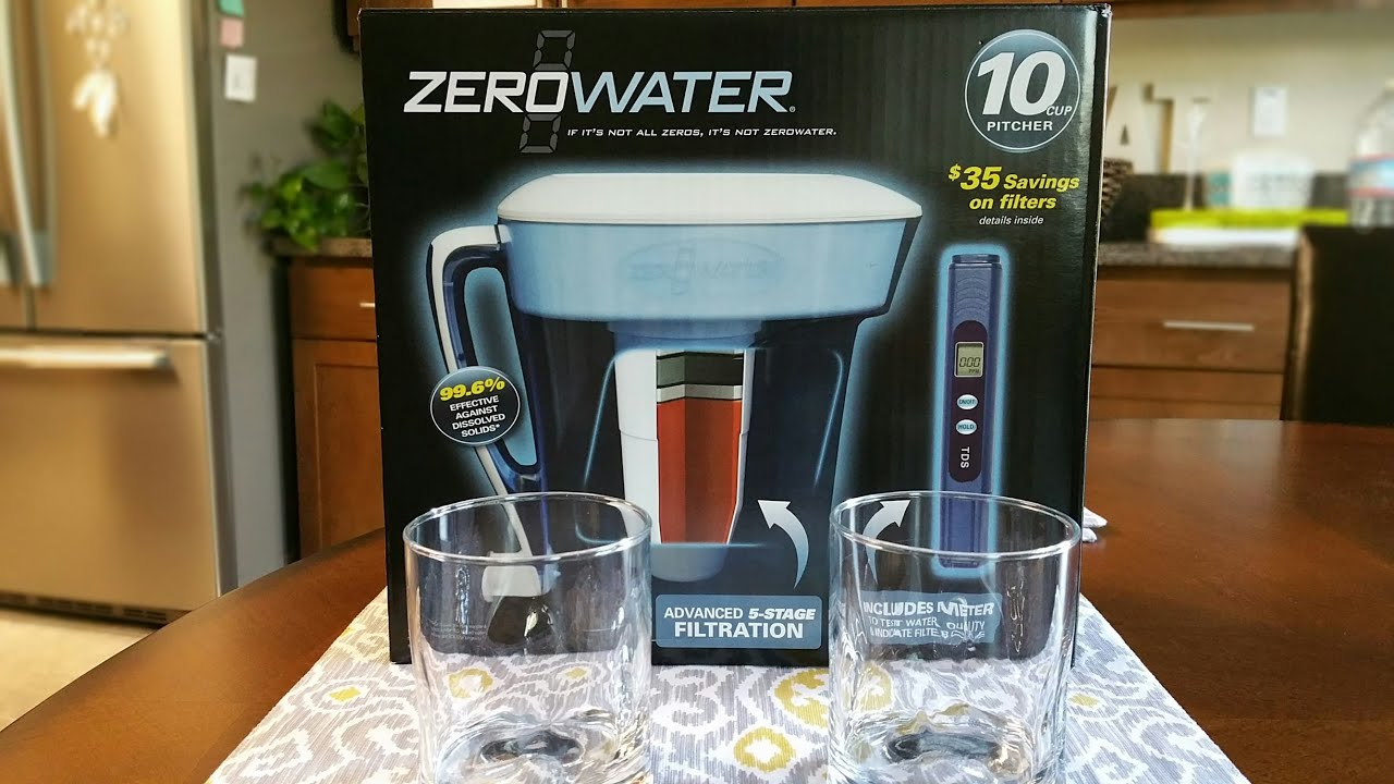 Zero Water 10 cup Pitcher Unbox and Review - YouTube