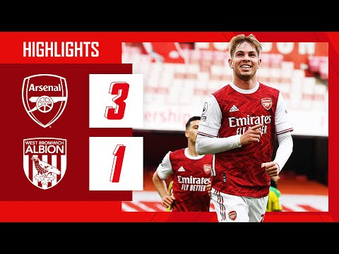 HIGHLIGHTS | Arsenal vs West Brom (3-1) | Smith Rowe, Pepe, Willian | Premier League