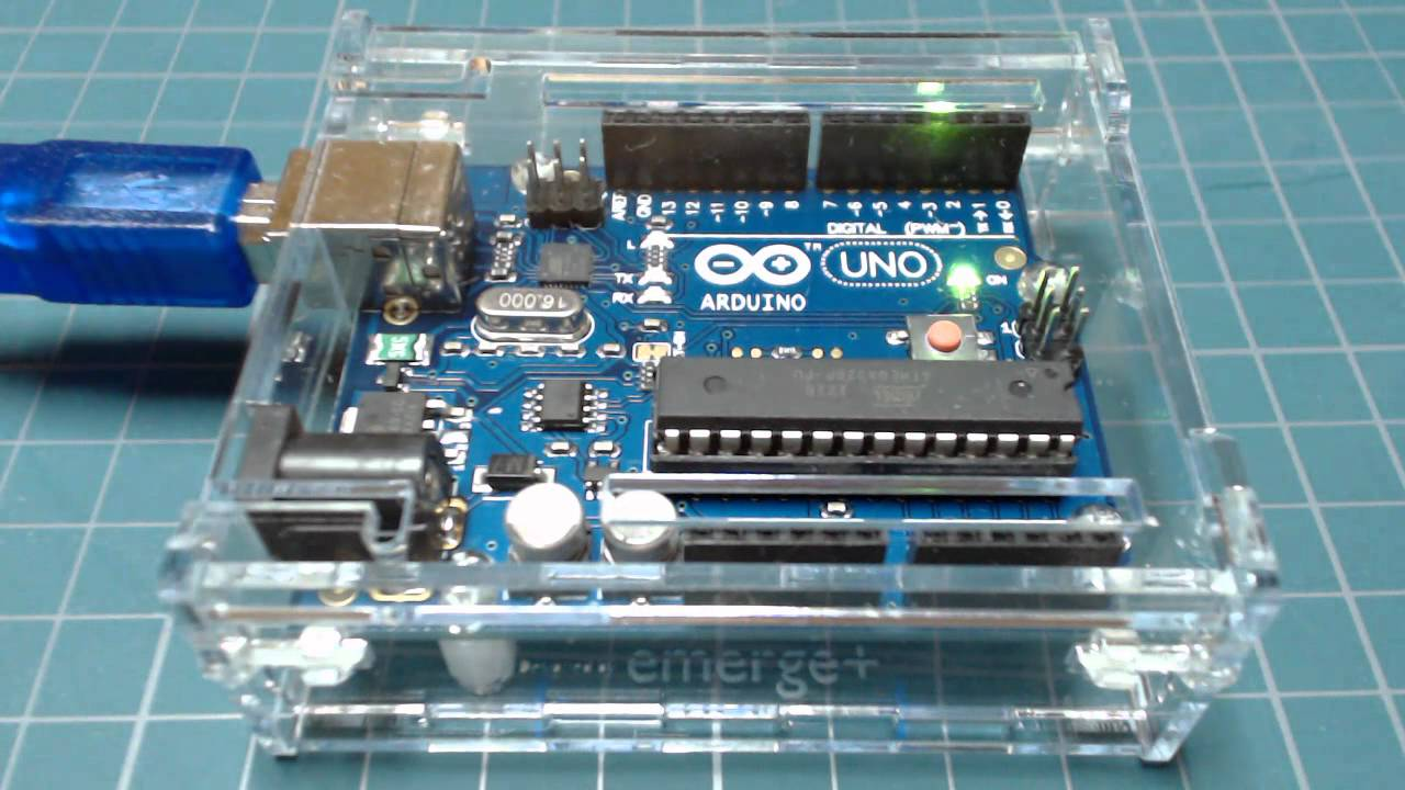 Arduino Uno LED Blink sketch - Onboard D13 LED - YouTube