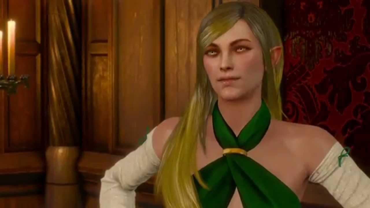 The Witcher 3: Wild Hunt Amrynn Romance Scene - YouTube