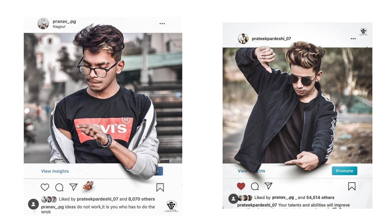 Instagram creative photo effect | Photoshop Trending Photo ...