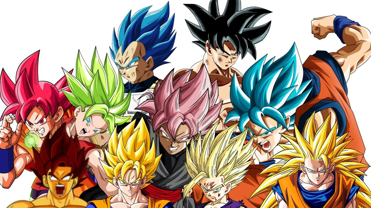 20 Strongest SSJ FORMS- All Types Of SUPER SAIYAN ...