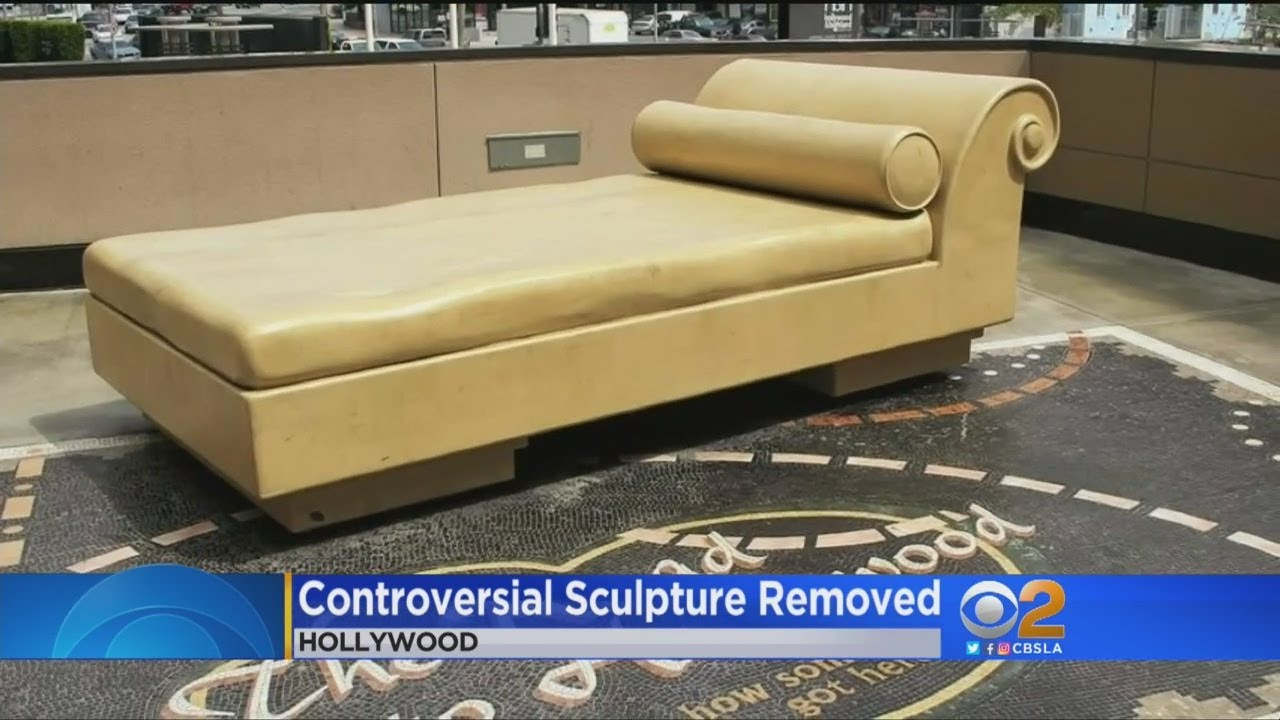 Hollywood 'Casting Couch' Sculpture Covered In Light Of ...