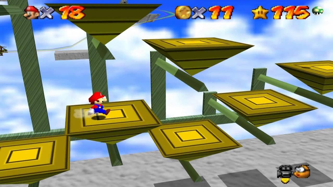 Super Mario 64 Walkthrough - Course 15 - Rainbow Ride ...