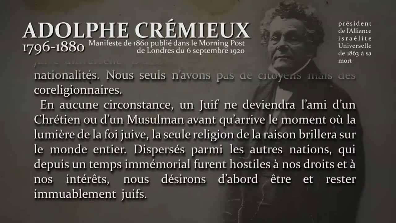 Alain Soral revient sur le décret Crémieux de Isaac-Jacob ...