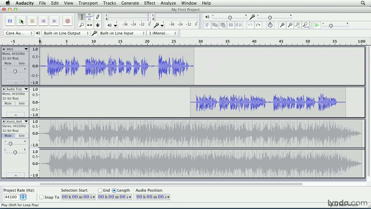 Audacity programa para gravar podcasts