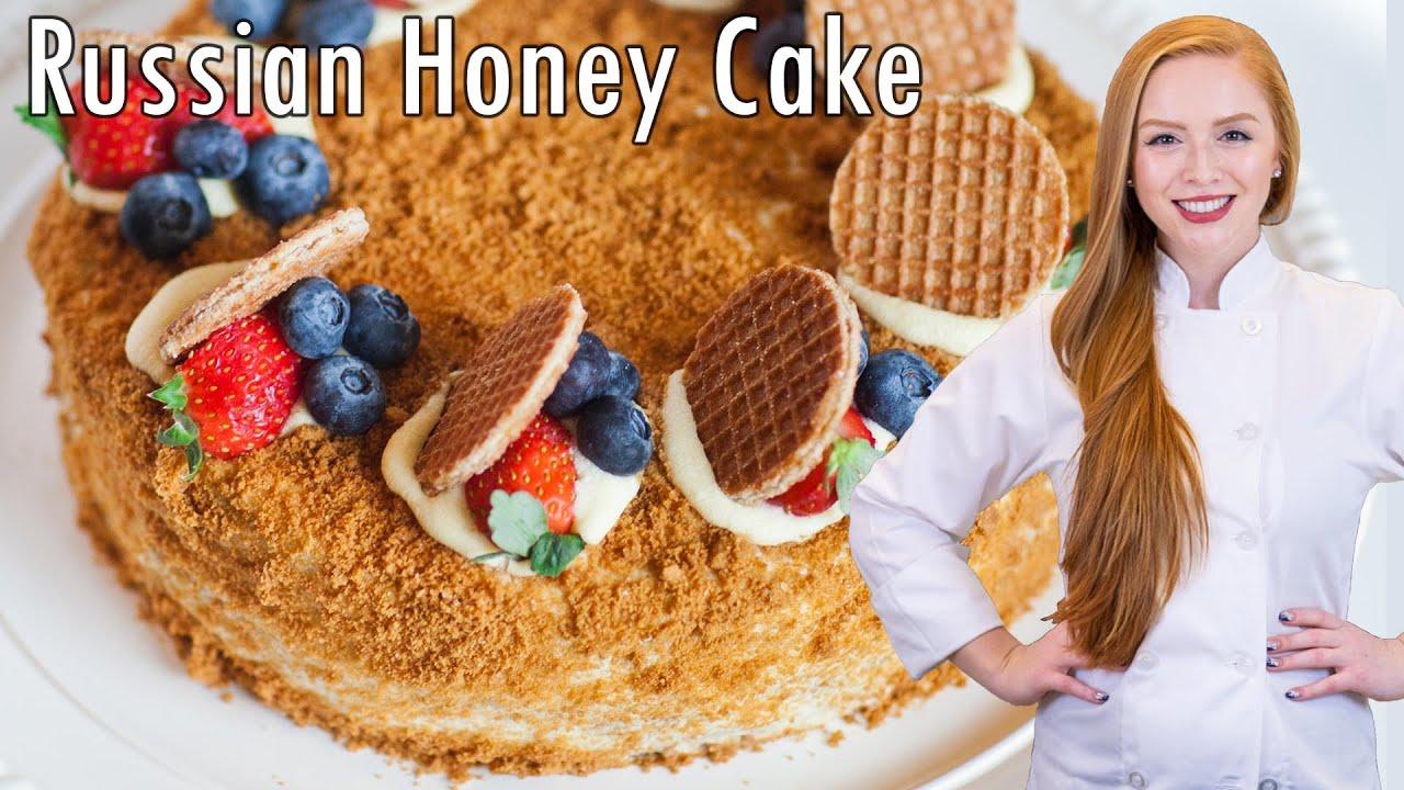 """Medovik Cake: 8-Layer Honey Cake ~ Торт """"Медовик"""" - YouTube"""