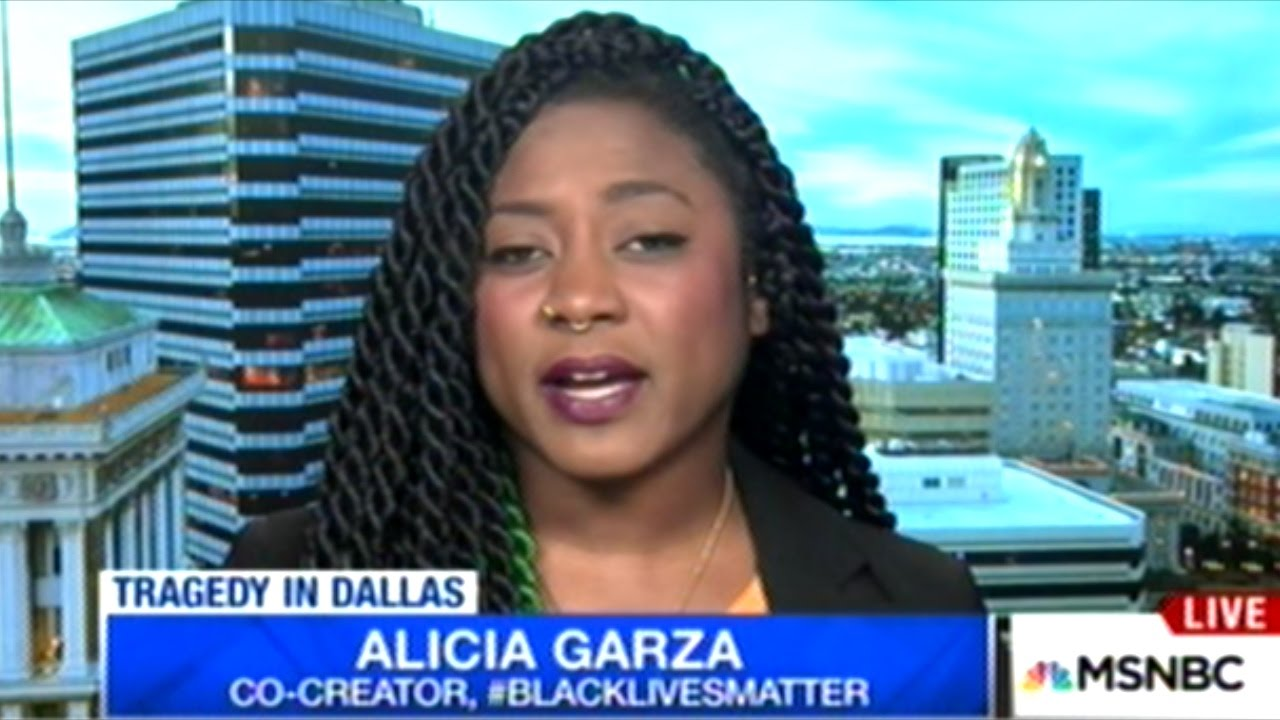 """WE WANT AN END TO THE POLICE STATE!"" Alicia Garza ""Black ..."