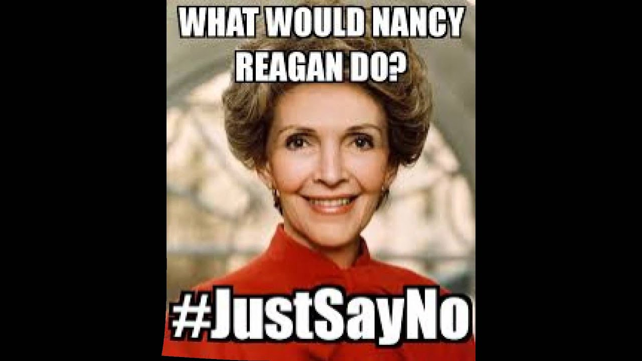 Nancy Reagan Say No To Drugs Rap - YouTube