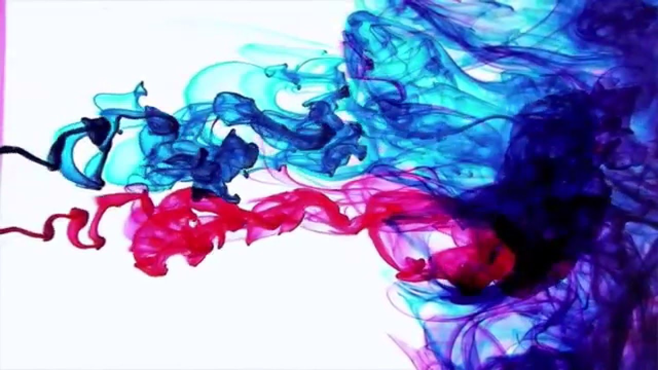 Color Ink Drops in Water Slow Motion HD - YouTube