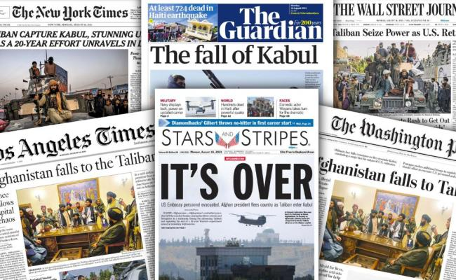 How Newspaper Front Pages Covered The Fall Of Afghanistan ...
