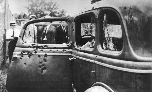 Ford V8 de Bonnie & Clyde après l'embuscade - Cultea
