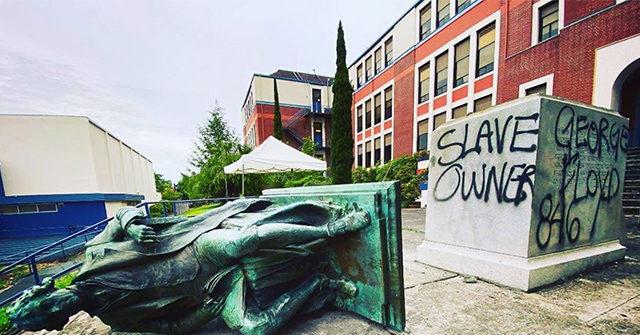 Thomas Jefferson statue torn down at Portland High School…