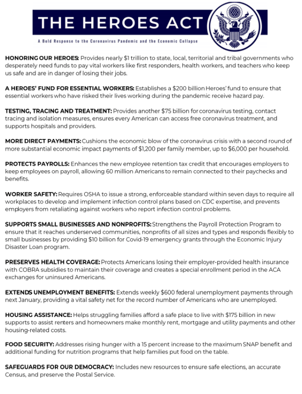 Heroes Act Fact Sheet – Milwaukee Area Labor Council AFL-CIO