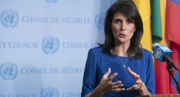 likely involve U.S. ambassador to the United Nations, Nikki Haley ...