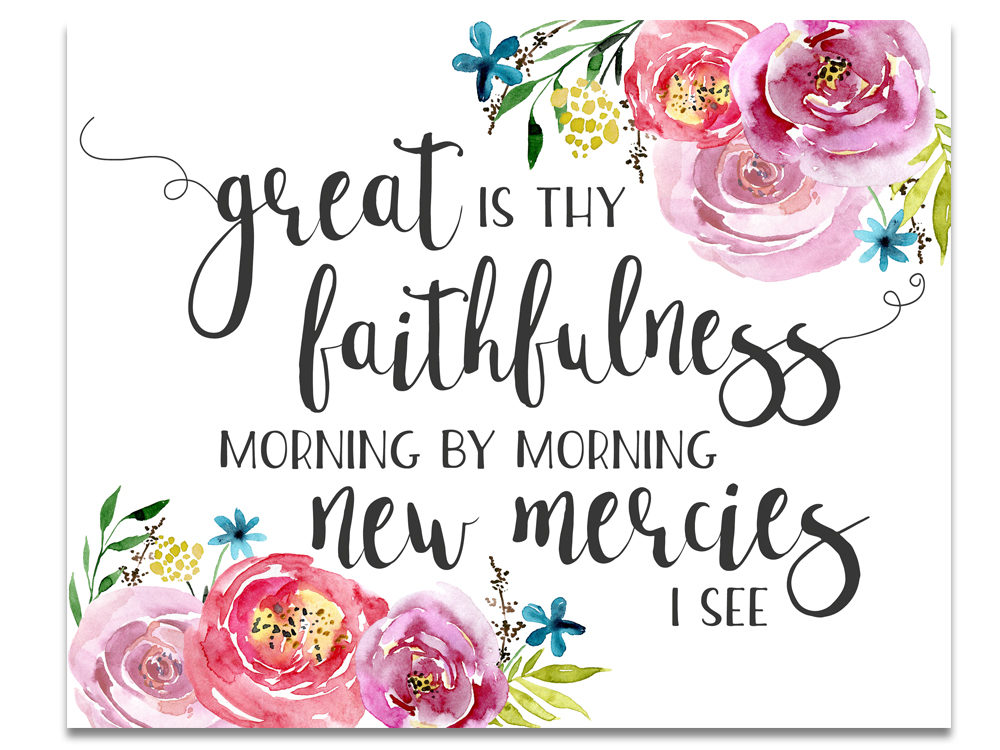 Free Printable Hymn Art: Great Is Thy Faithfulness - Six Clever Sisters