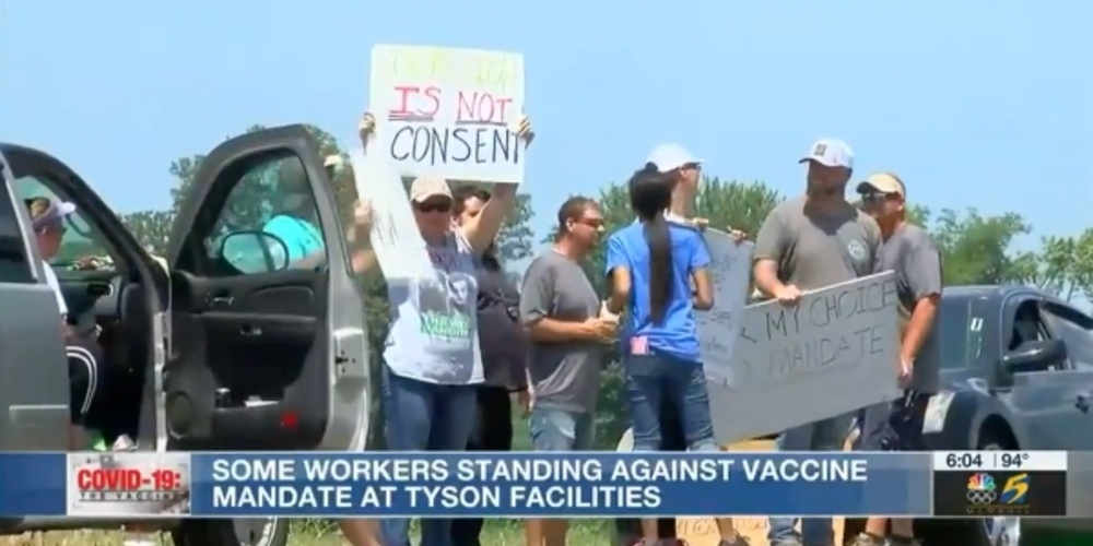 Mandatory COVID Vaccines At Tyson Foods Leads To Walkout ...