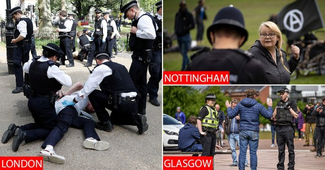 19 arrested as anti-lockdown protests take place across ...