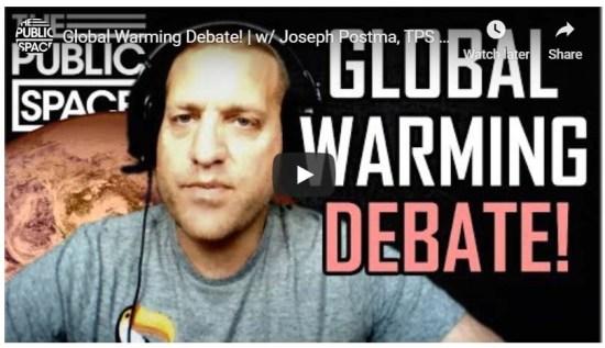 Watch 'Global Warming Debate!' with Joseph Postma   PSI Intl