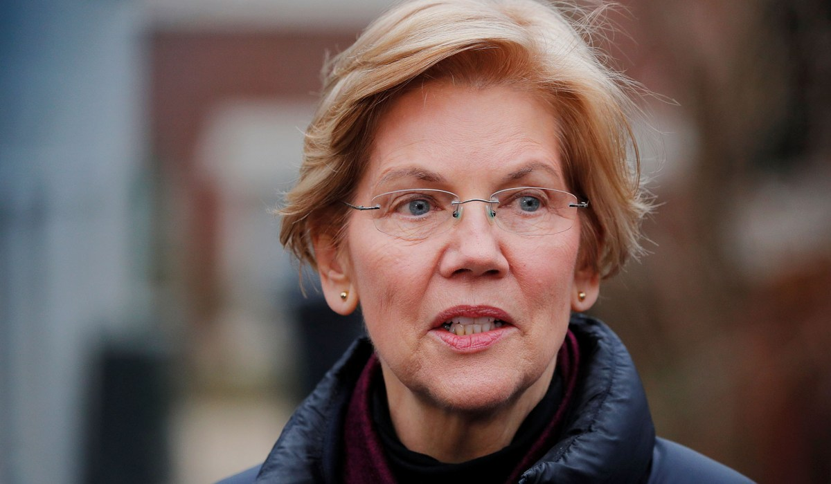 Warren sees sharp drop in quarterly fundraising, 'a good chunk behind' last quarter, campaign says…