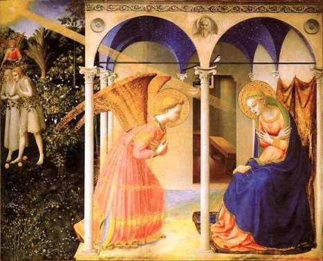 La Anunciación (Fra Angélico) - Revista de Arte - Logopress