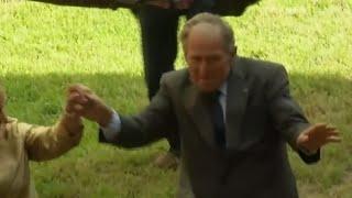 George W. Bush dances at 10th Katrina anniversary