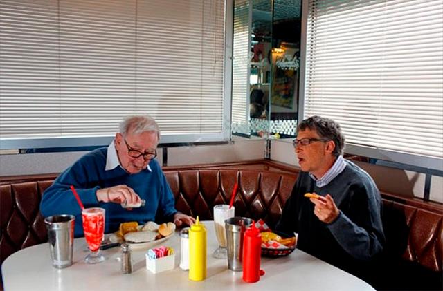 Bill Gates puede comer gratis en McDonald's, Geroge Lucas ...