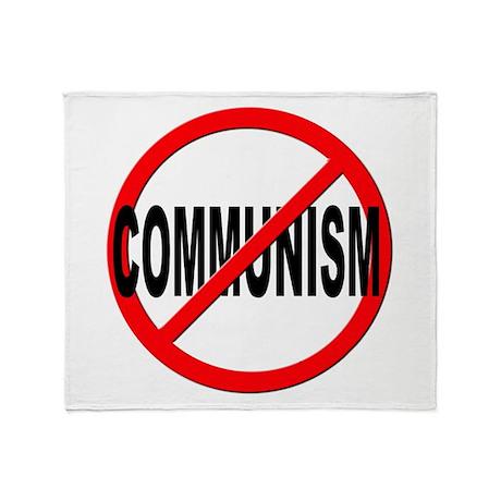 Anti / No Communism Throw Blanket by stickem2