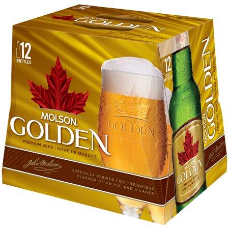 Molson Golden Beer 12-12 fl. oz. Bottles - Walmart.com