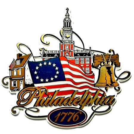 Philadelphia Pennsylvania 1776 with Flag Fridge Magnet ...