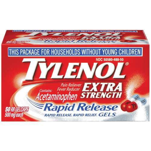 Tylenol(R) Rapid Release Gelcaps Extra Strength, 50 ct ...