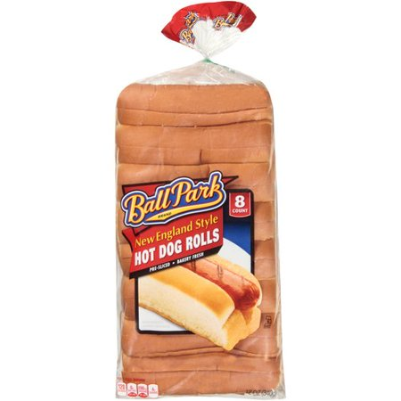 Ball Park New England Style Hot Dog Rolls, 8 count, 12 oz - Walmart.com