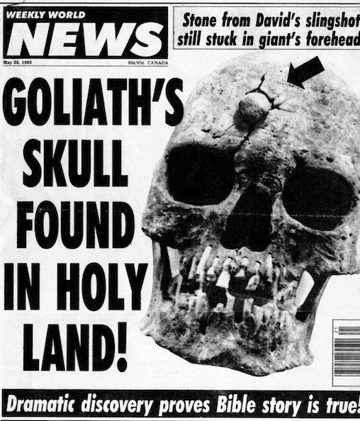2011 – Goliath's Skull Found in Holy Land? | I AM is at the doors