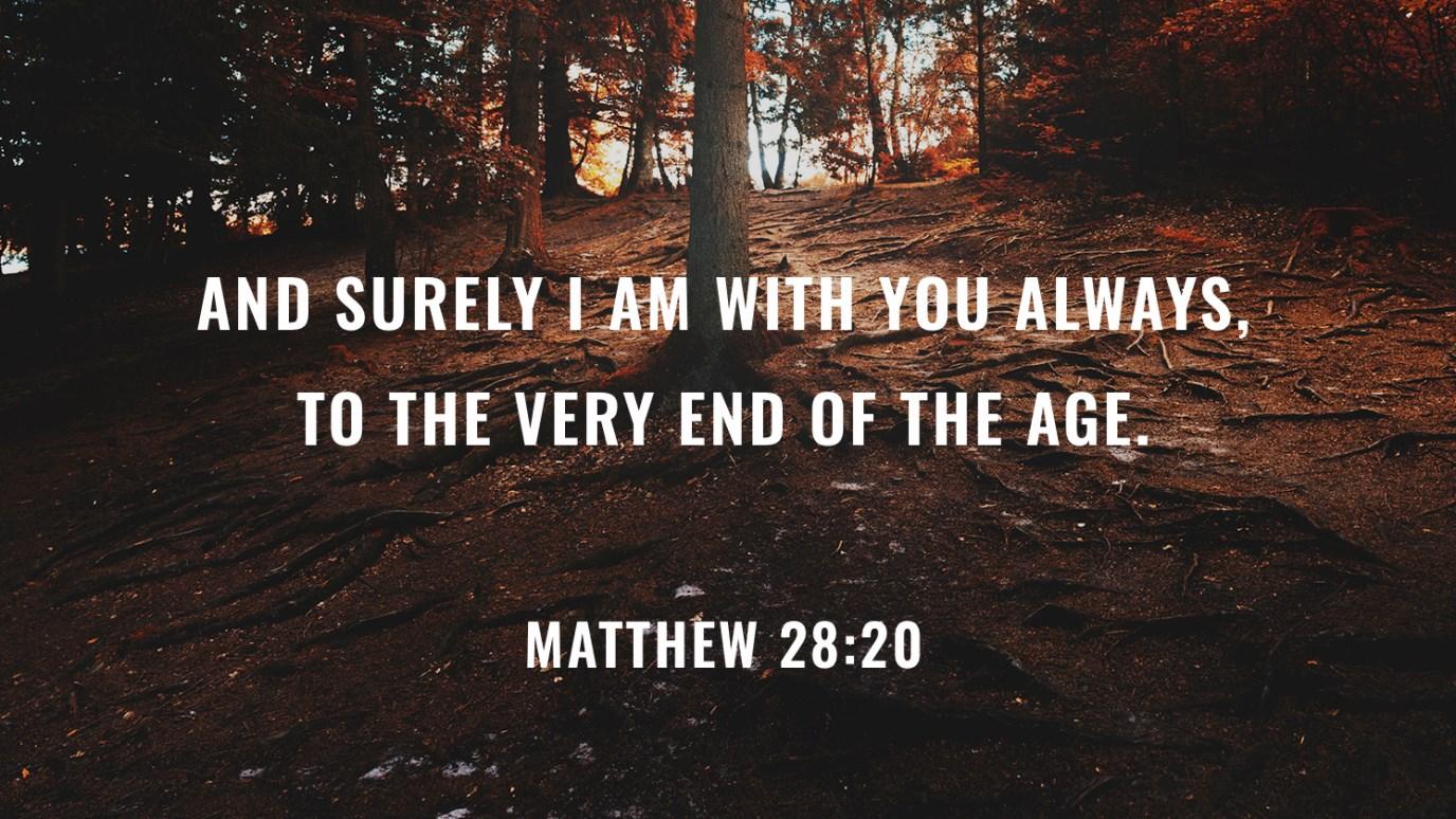 Verse of the Day - Matthew 28:20 - iDisciple