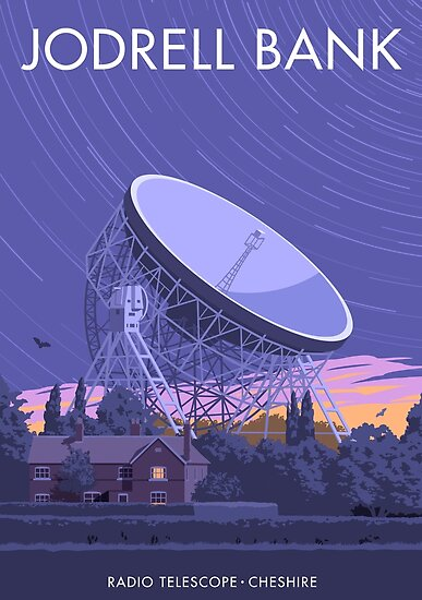 """Jodrell Bank Radio Telescope"" Poster by smillership ..."