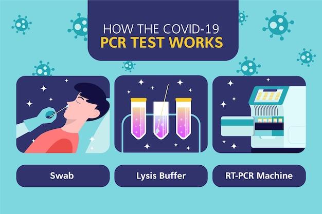 Jak Działa Test Pcr Infografika | Darmowy Wektor