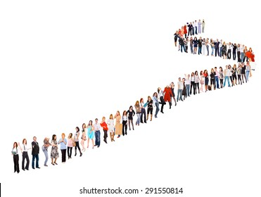 Long Line of People Images, Stock Photos & Vectors ...