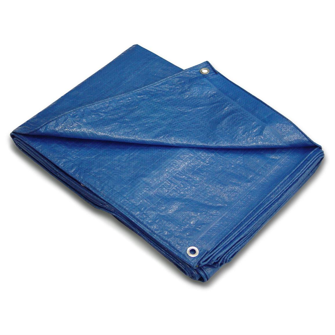 Polytuf® Super Blue Tarp, 30x60' - 163001, Storage ...