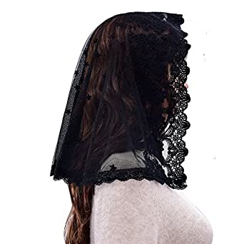Black Veil Mantilla Catholic Church Chapel Veil Head ...