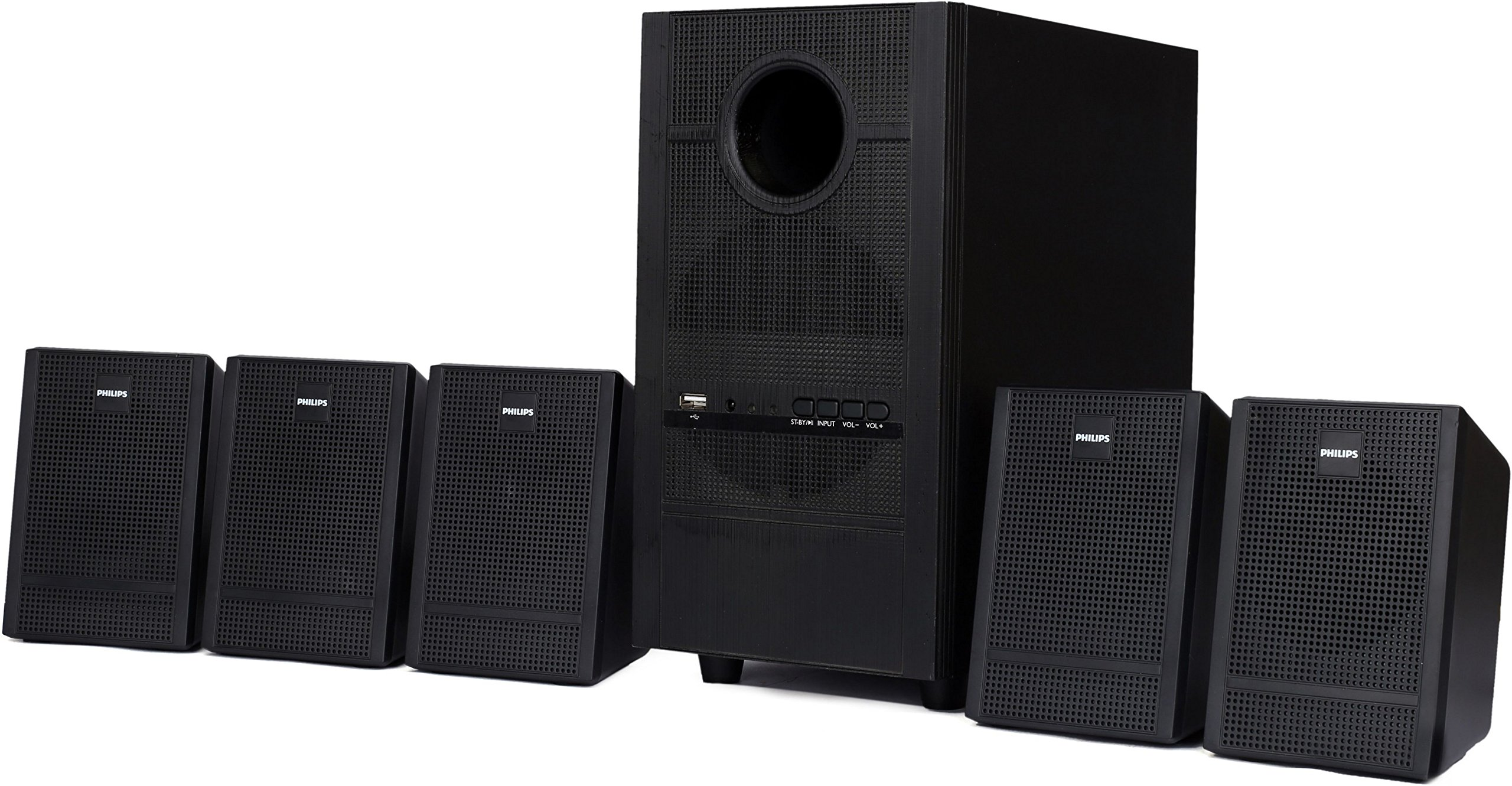 Philips Heartbeat SPA-3000U/94 5.1 Channel Multimedia Speaker System ...