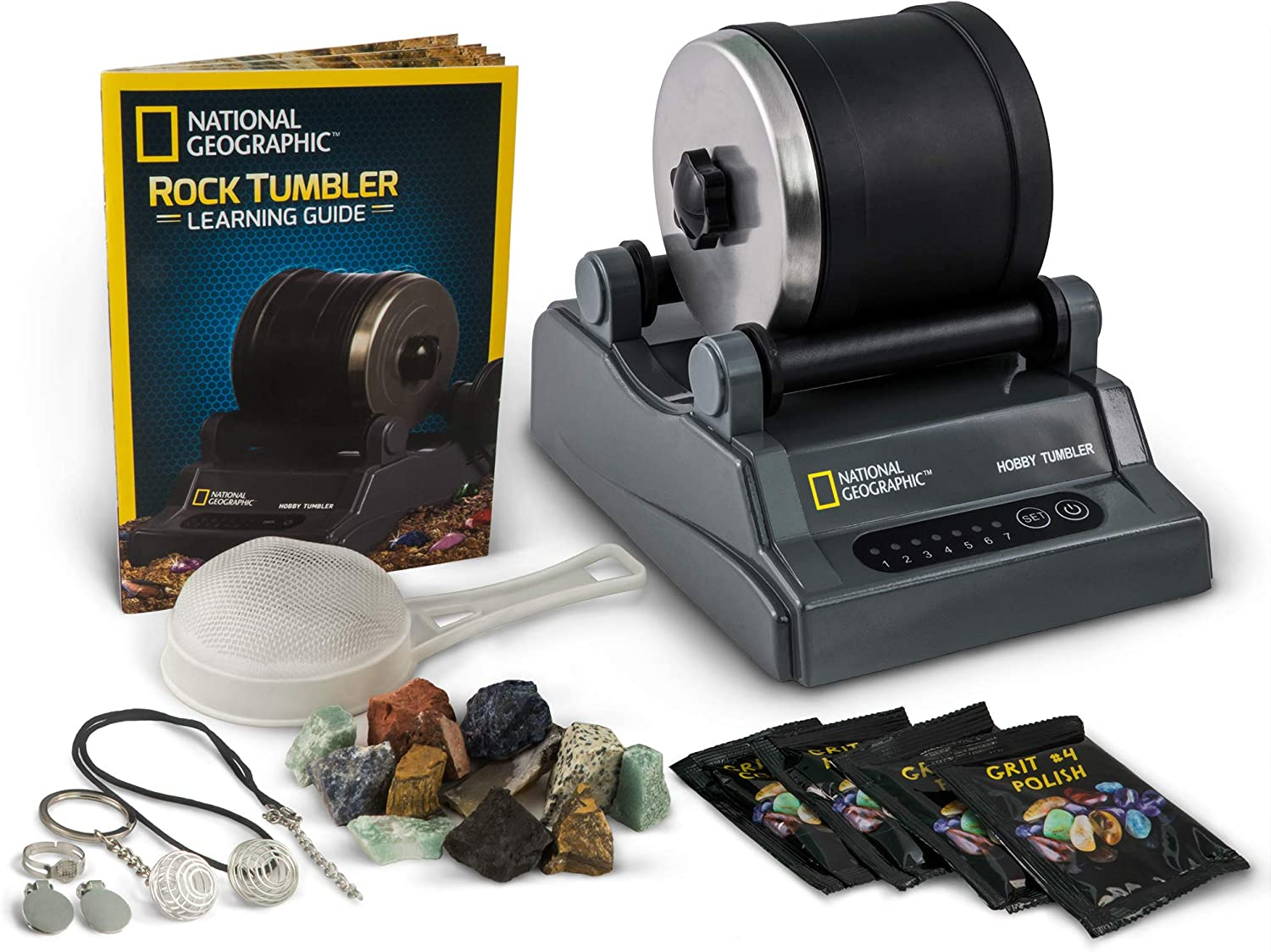 NATIONAL GEOGRAPHIC Hobby Rock Tumbler Kit - Includes ...