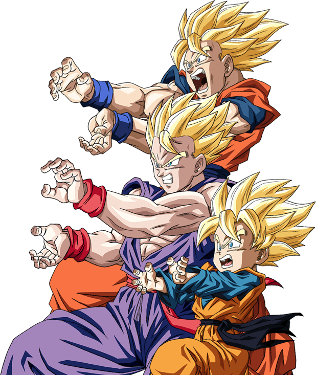 Goku - Gohan - Goten render [Dokkan Battle] by ...